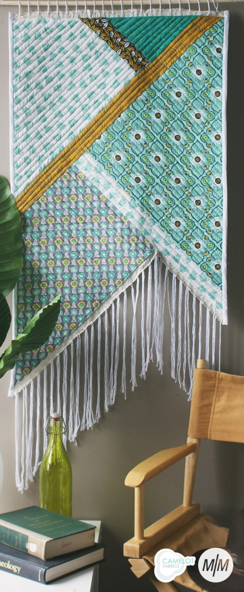 Looking for a one-of-a-kind piece to add interest to your home's decor? Create a fringe wall hanging using this tutorial by Camelot Fabrics. -Sewtorial