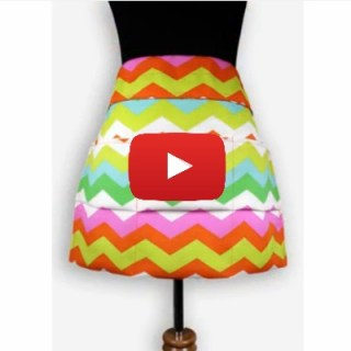 In this video tutorial by The Online Fabric Store, you'll learn how to make this garden apron that holds all your gardening tools while you look ultra chic. -Sewtorial