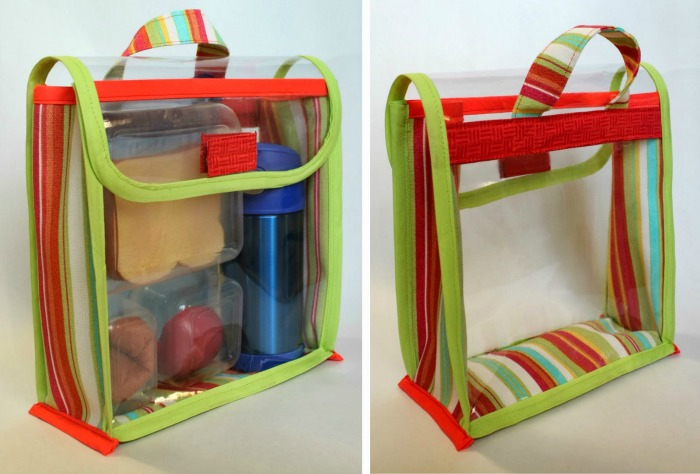 These see-through vinyl lunch bags by The Inspired Wren make packing a lunch easy and just might encourage a little lunchtime creativity. -Sewtorial