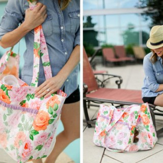 If you're looking for something chic to carry with you to the pool this summer, Sewbon shares a great tutorial for an oilcloth poolside tote. -Sewtorial