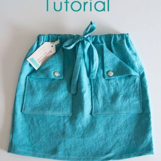 In this drawstring skirt tutorial by Melissa from Melly Sews, you learn how to make a fun drawstring skirt with pockets. -Sewtorial