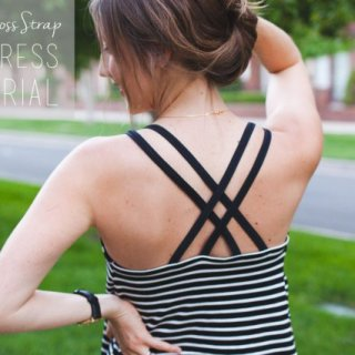 Push those winter clothes to the back of the closet and create something cool and comfy to wear like this criss cross strap sundress by Sewbon. -Sewtorial