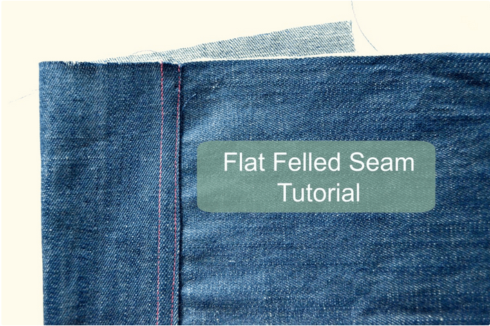 In this tutorial, On the Cutting Floor demonstrates the proper technique for creating flat felled seams. - Sewtorial