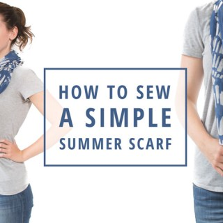 IndieSew shows how to create a simple summer scarf in this easy tutorial. -Sewtorial
