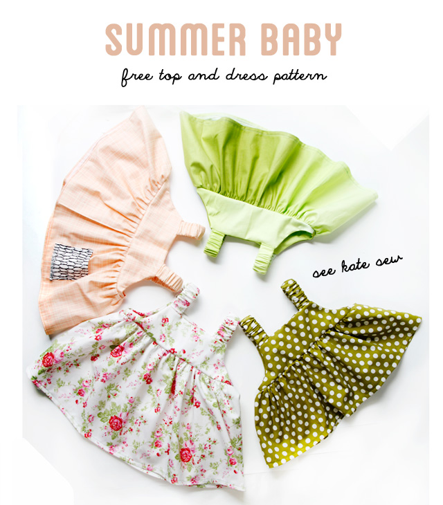 See Kate Sew shares a tutorial for creating these easy-sew summer baby dresses that you'll love. Make them for your little one or give as gifts. -Sewtorial