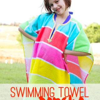 Here's a unique take on the swimsuit cover up. Make It Love It shares a tutorial for creating this fun swimming towel poncho. - Sewtorial