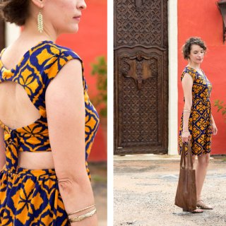 Melissa from Melly Sews shares a beautiful tie back dress tutorial in her 30 Days of Sundresses series. -Sewtorial