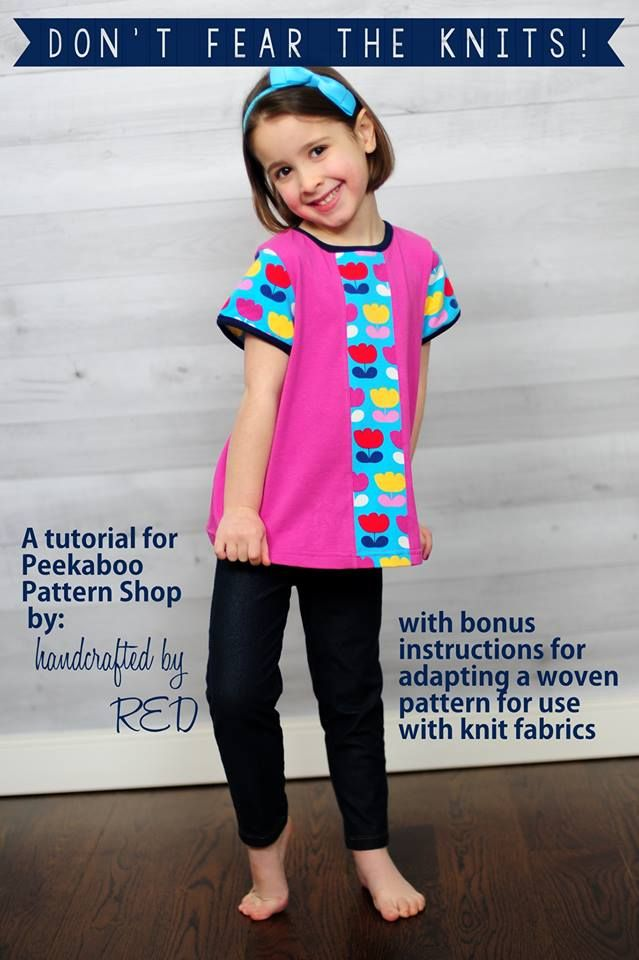 Working with knits doesn't have to be intimidating. Learn great tips for working with this unique fabric in this tutorial by Peek-a-Boo Patterns. -Sewtorial