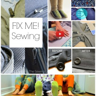 "Rips, tears, holes, and broken ""things"" happen. Thankfully, mending, fixing and repairing are all possible with our trusty sewing machines (or needles and thread). Here are 8 of our favorite FIX ME sewing tutorials that we think you'll find useful."