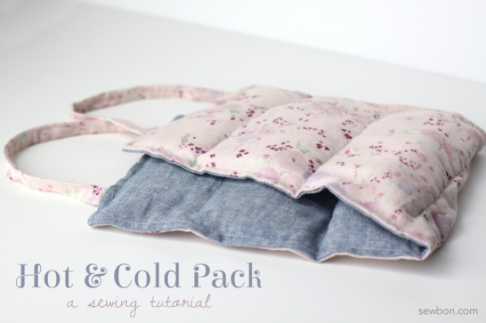 Tired, sore muscles? Try this Hot and Cold Pack DIY by Sewbon to soothe those aches and pains. -Sewtorial