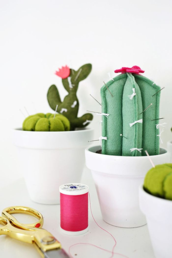 Where's the best place to stick your pins? In a cactus pincushion, of course! Learn how to make this fun and easy pincushion by A Beautiful Mess. -Sewtorial