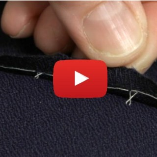"The ""invisible"" figure 8 stitch is perfect for tricky to hem fabrics. Learn the step-by-step technique from Claire Shaeffer for Threads Magazine. -Sewtorial"