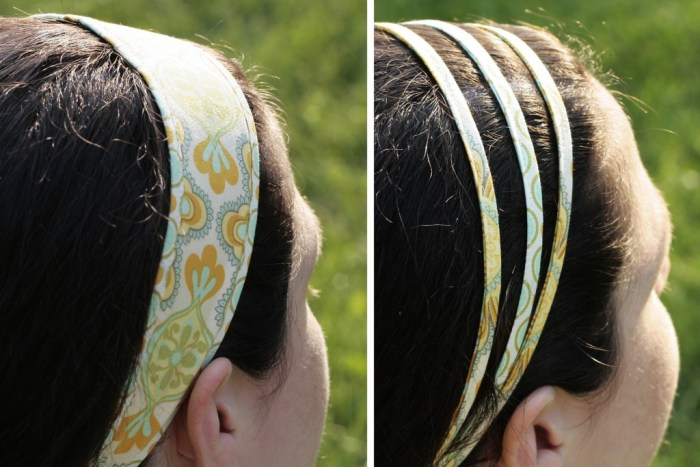When the weather is hot and sticky, these simple summer headbands by Craft Buds are perfect for pulling your hair back, and they're easy to make. -Sewtorial