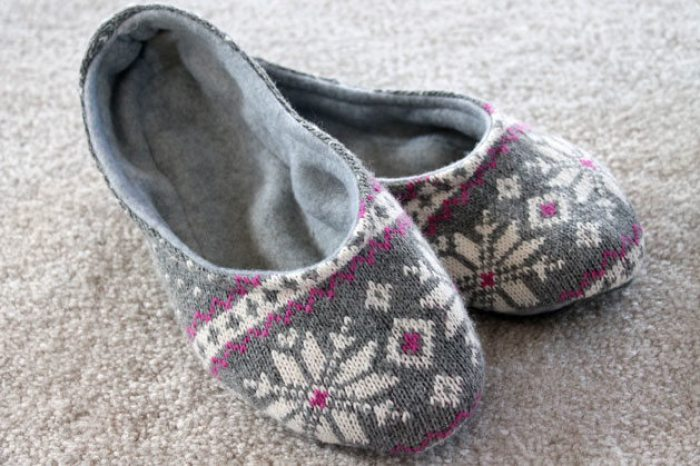 Cozy slippers are perfect for tired tootsies after a long day. In this tutorial by eHow, you'll learn how easy it is to make your own slippers. -Sewtorial