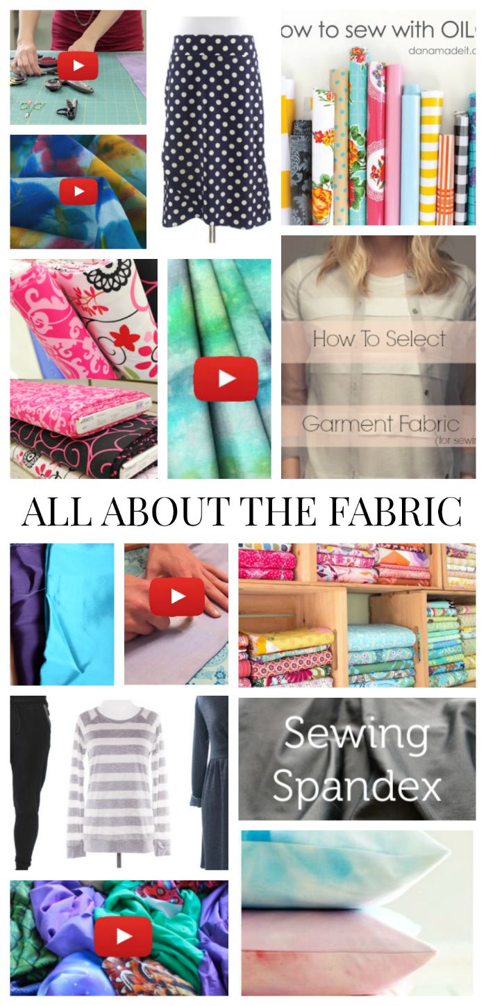 We've pulled together some really good fabric tutorials from our archives to help you navigate the world of fabric and learn how to sew them. - Sewtorial