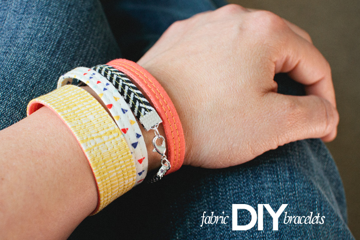 Here's a fun and fashionable way to use up fabric scraps. LBG Studio shares a tutorial for fabric bracelets that are easy to make and perfect for little girls to adults.