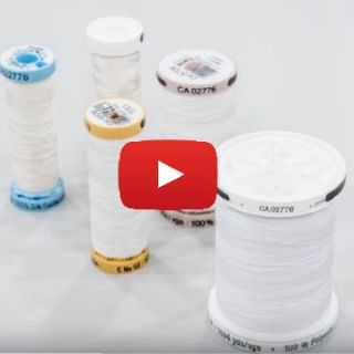Professor Pincushion shares some great tips on sewing thread and how to select the right one for your projects. -Sewtorial