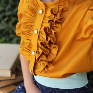 "In this ""How to Sew a Ruffle"" tutorial on I Heart Naptime, you'll learn how to create beautifully spaced ruffles that look amazing! -Sewtorial"