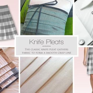 Learn how to make beautiful knife pleats with this detailed tutorial by Sew 4 Home. -Sewtorial