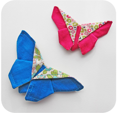 Fabric Origami Butterfly SEWTORIAL