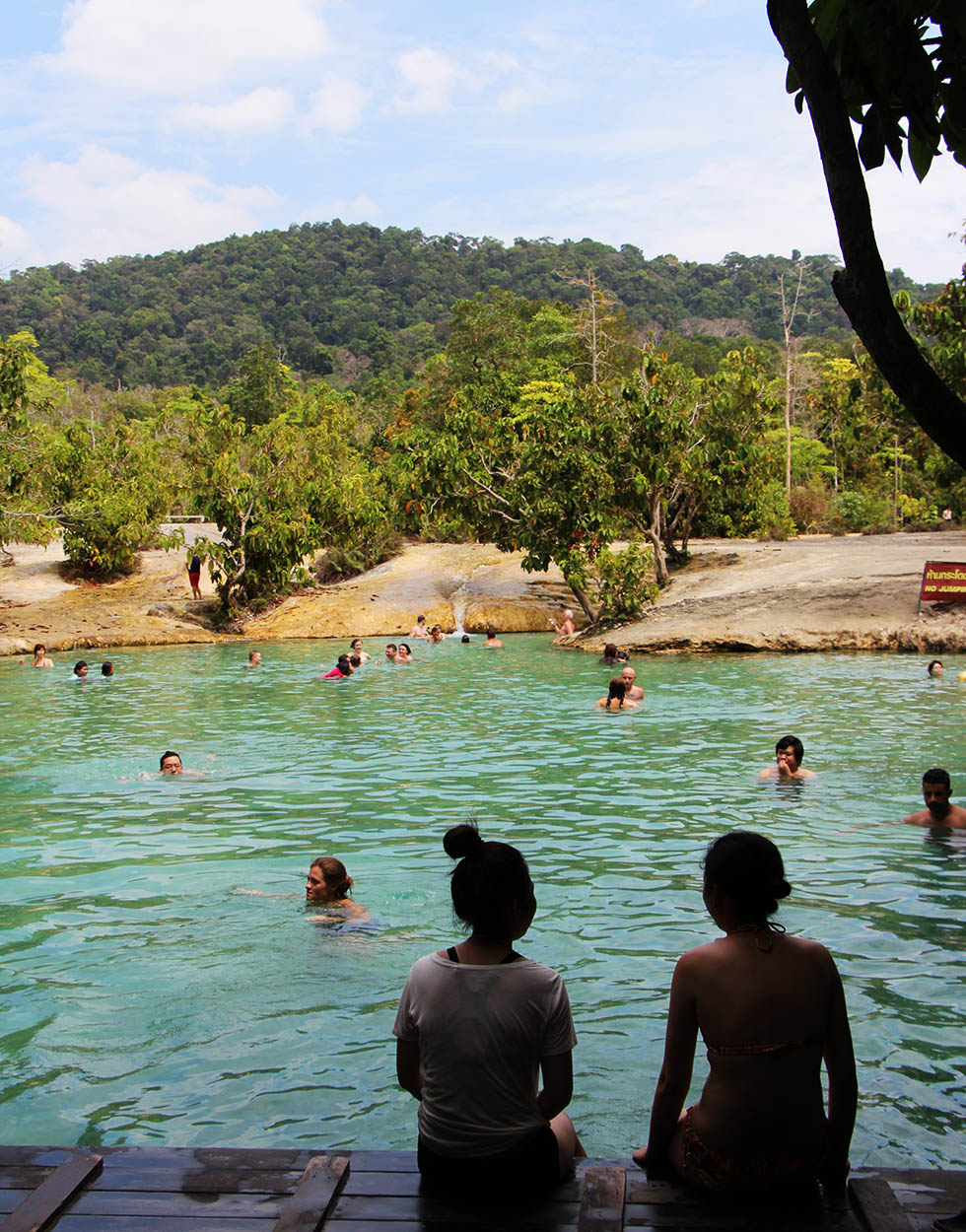 Swimming at the Emerald Pool in Krabi