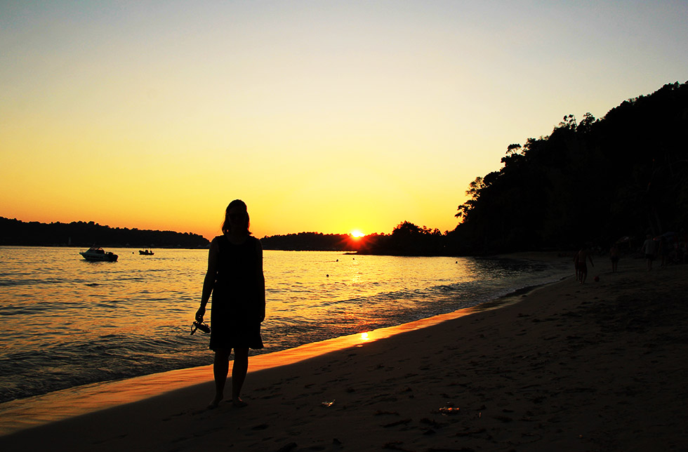 Sunset at Klong Kloi Beach on Koh Chang