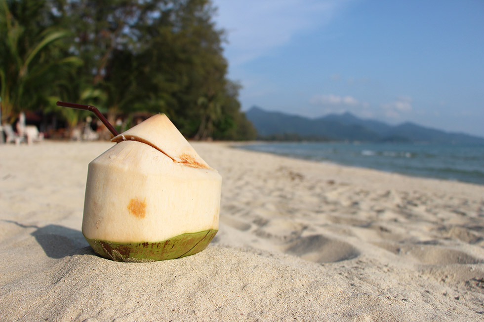 The perfect refreshment at Klong Prao Beach on Koh Chang