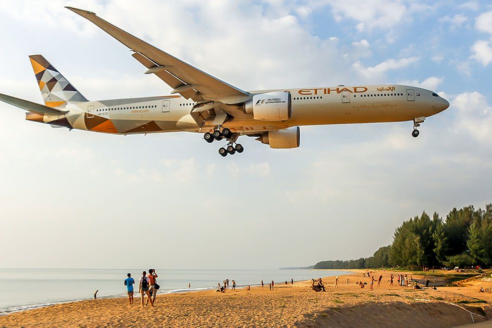Airplane spotting at Mai Khao Beach - Phuket