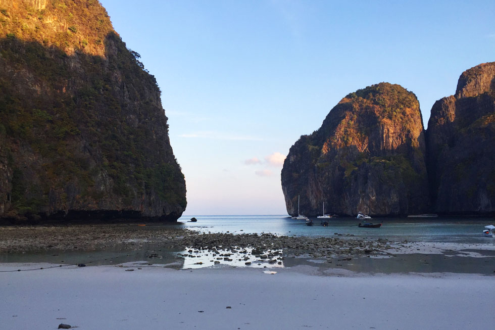 Early mornings in Maya Bay - Koh Phi Phi