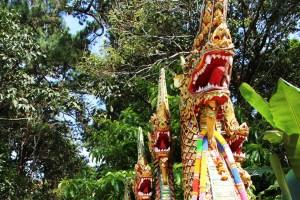 Stairs to Doi Suthep in Chiang Mai