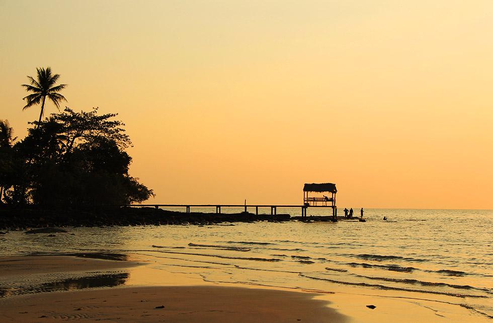 Beautiful sunset in Koh Kood