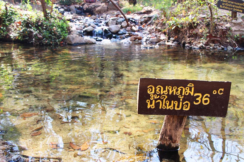 Very hot pool - Ta Pai Hot Spring in Pai