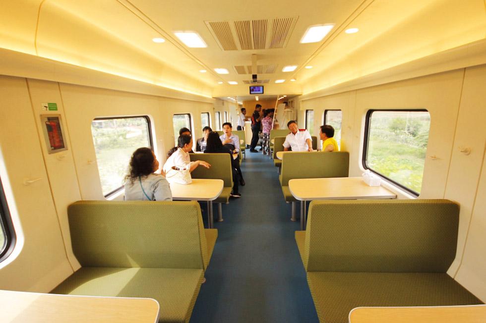 Interior of the new Thai sleeper train