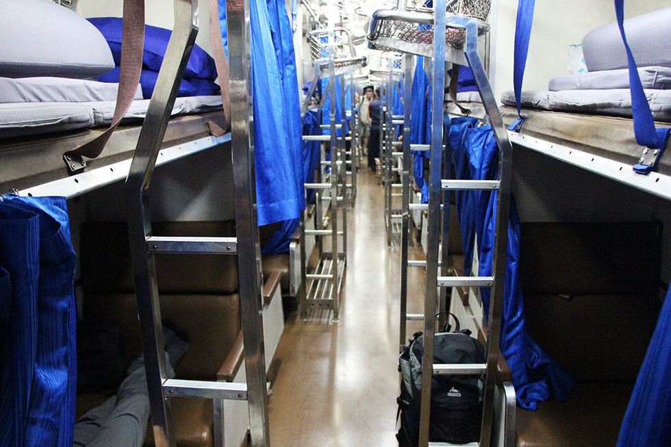 The aisle - Sleeper train in Thailand