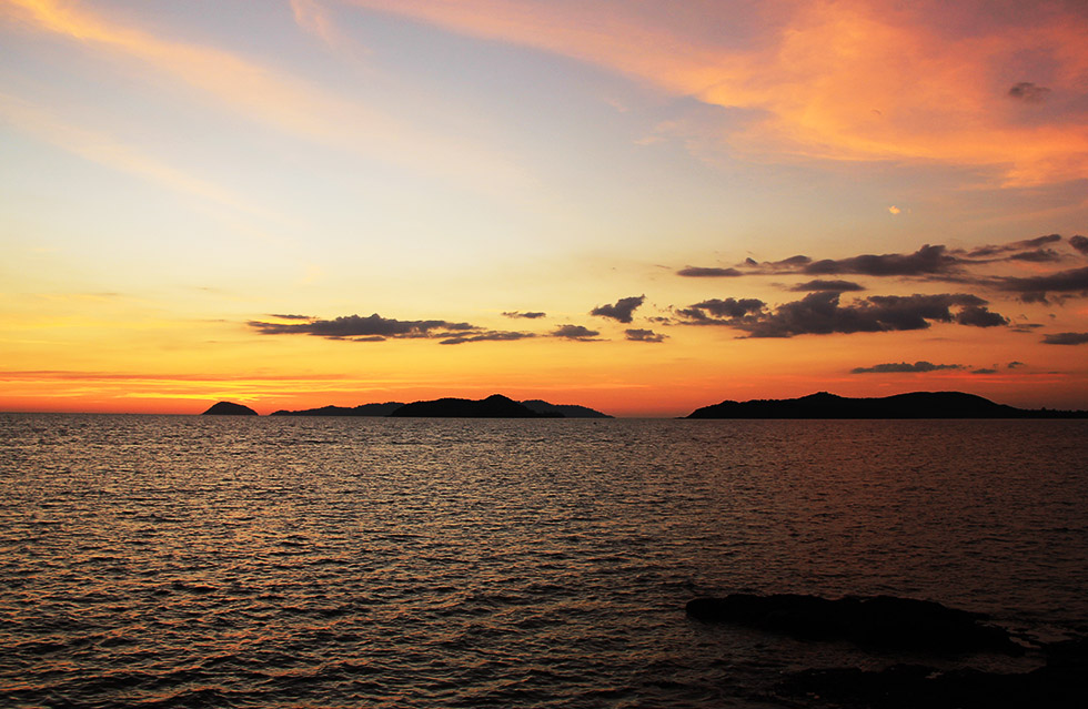 Beautiful sunset in Koh Mak