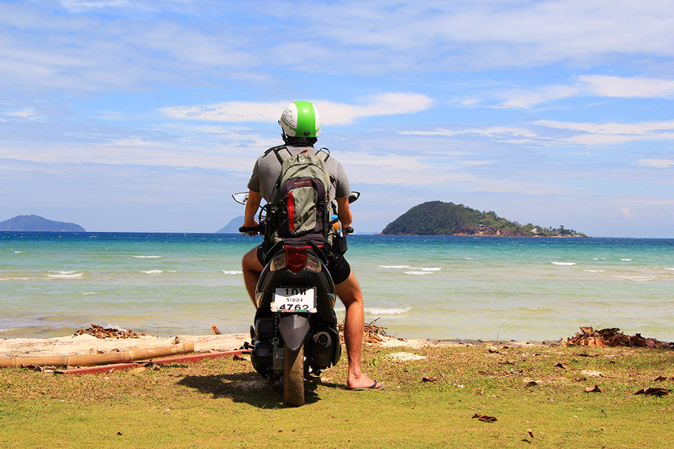 Exploring Koh Mak by motorbike