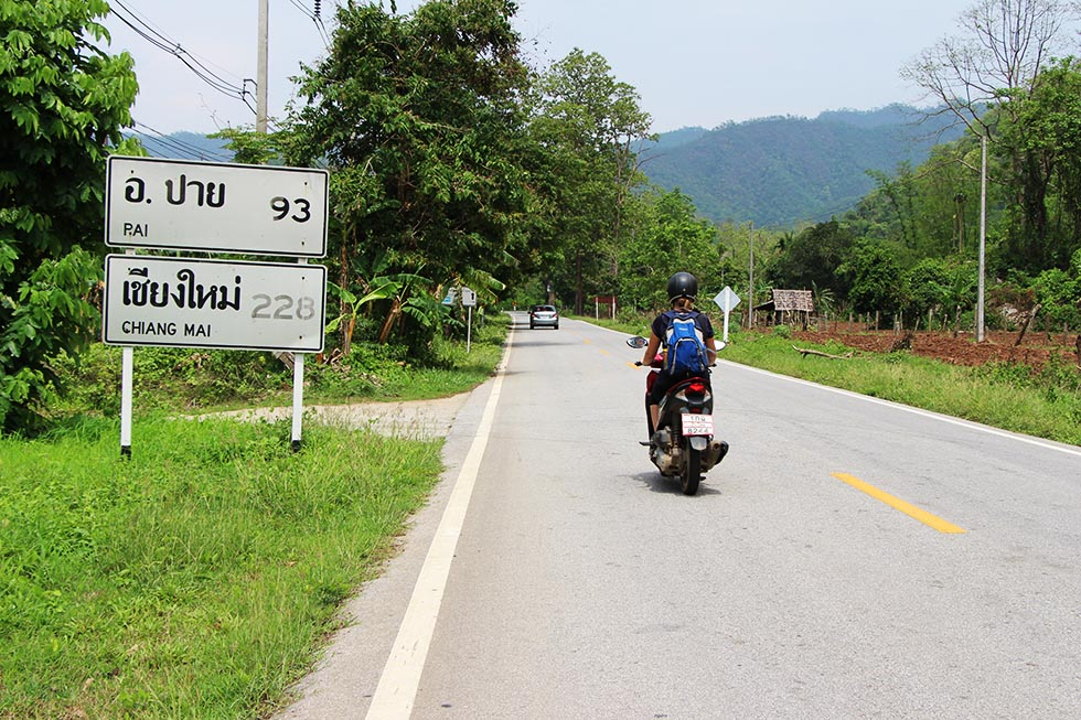 93 km to go to Pai