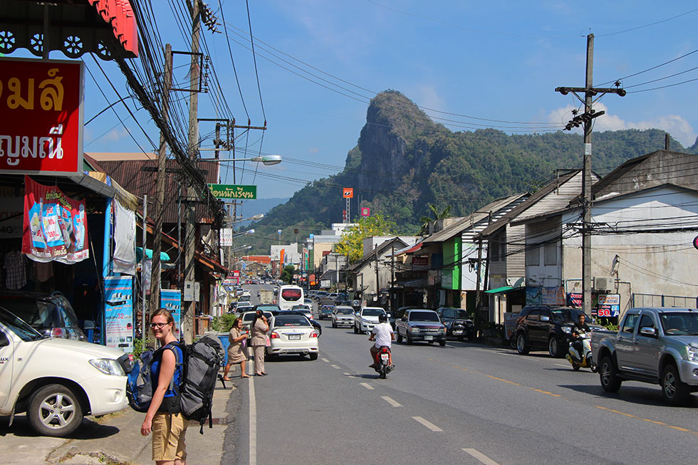 Looking for our guesthouse in Phang Nga