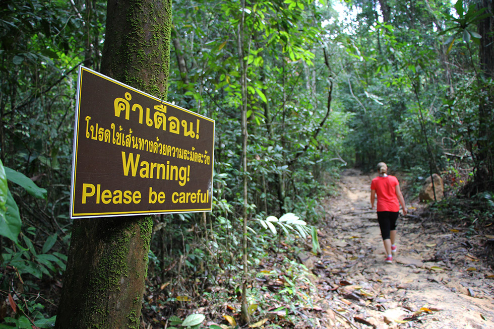 Please be careful @ Khao Ngon Nak Trail in Krabi