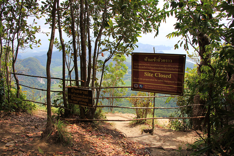 Site closed - Khao Ngon Nak Trail in Krabi
