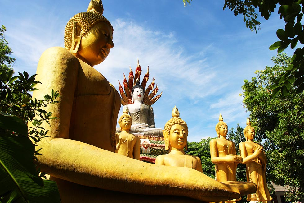 Beautiful Buddha statues in Chiang Mai
