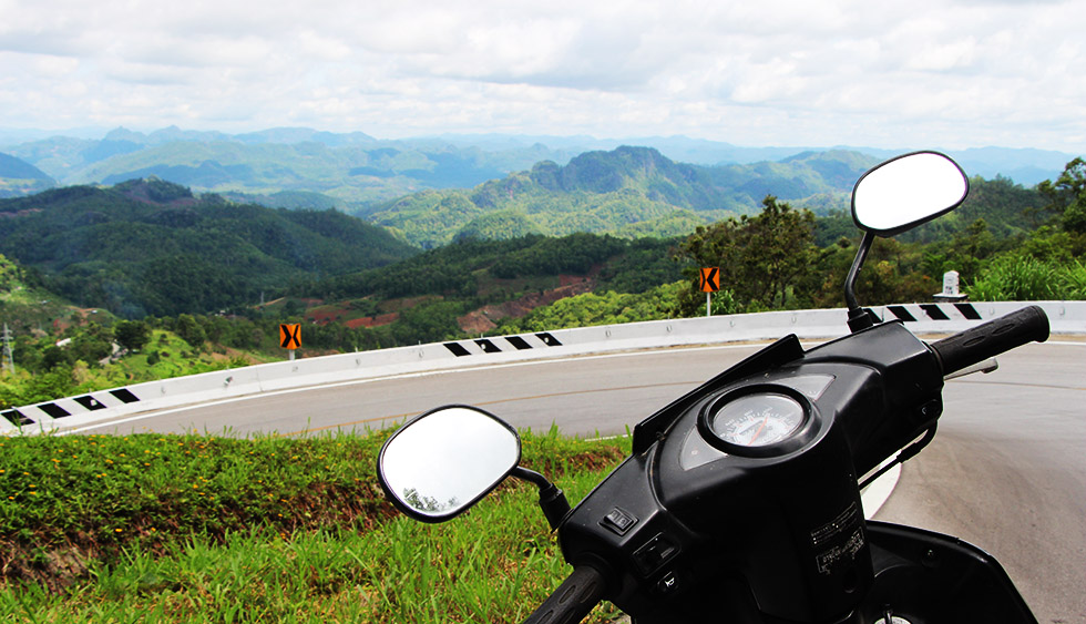On the road from Pai to Tham Lod Cave