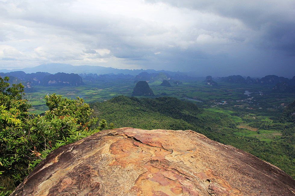View from Khao Ngon Nak Trail in Krabi
