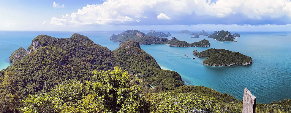 The majestic view from the Ang Thong National Marine Park Viewpoint