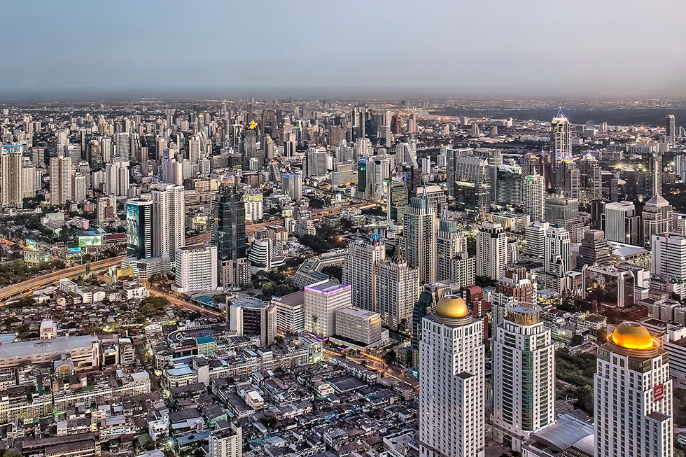 View from Baiyoke Tower in Bangkok