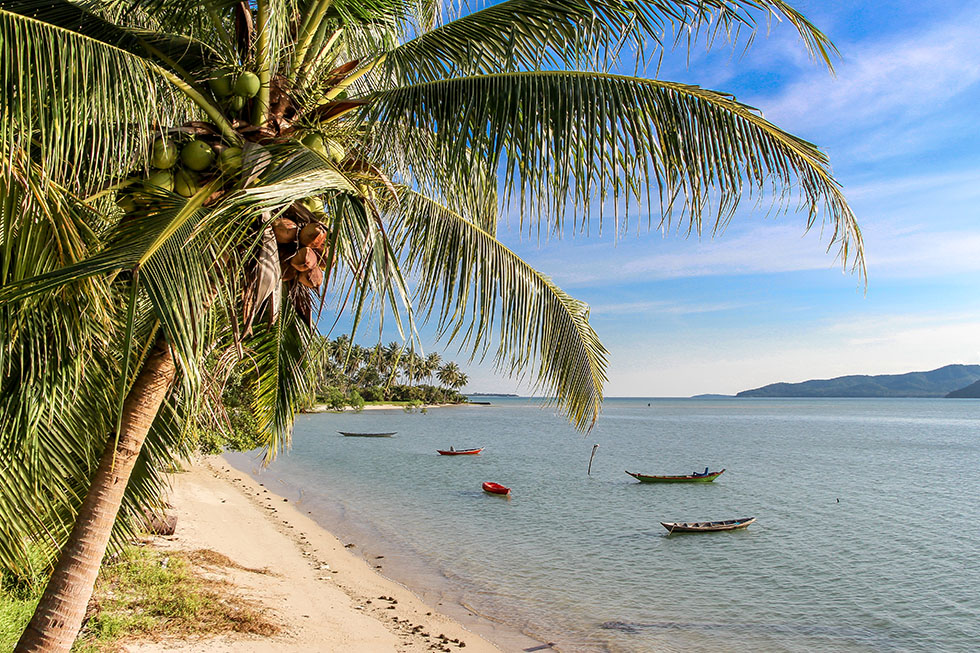 Thung Krut Beach in the south of Koh Samui