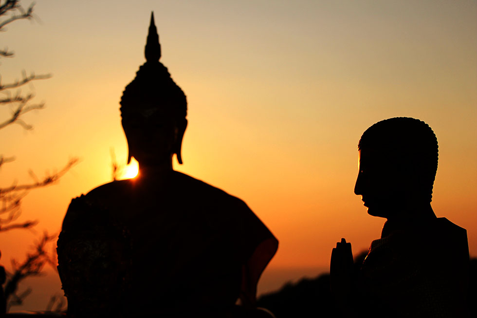 Sunset at Buddha's Footprint