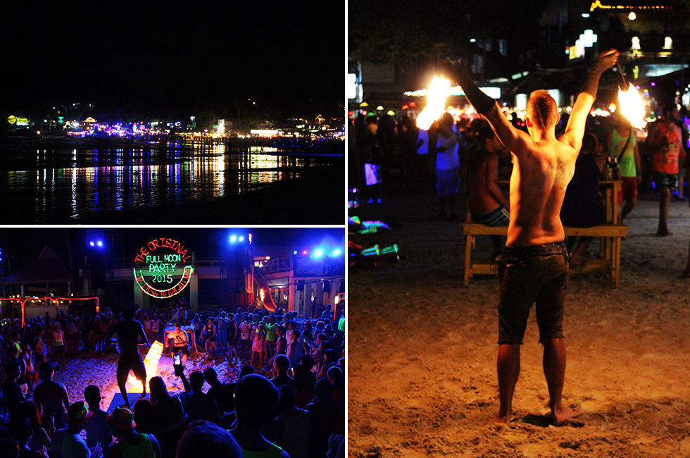 Playing with fire at the Full Moon Party - Koh Phangan