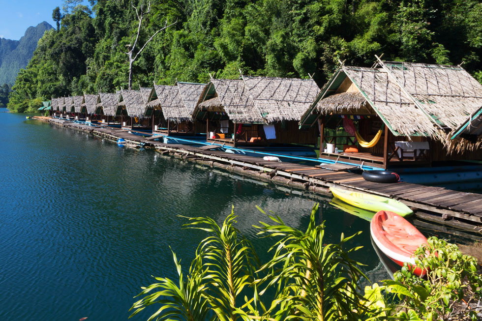 One of the floating villages in Khao Sok National Park