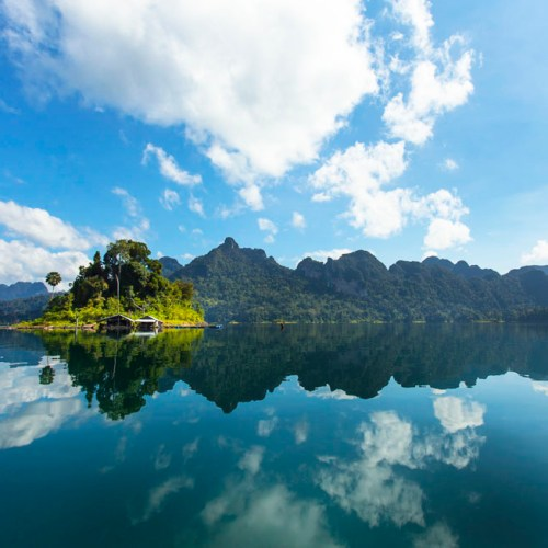 Stunning view of Khao Sok National Park's Cheow Lan Lake
